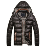 New Men Winter Jacket Fashion Hooded Thermal Down Cotton Parkas Male Casual Hoodies Brand Clothing Warm Coat