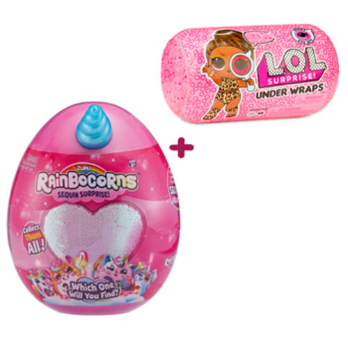 Boneca Lol - Under Wraps Doll Surprise Serie 2 + Rainbocorns - Sequin  Surprise (combo 4c6e500e48d