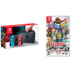 Nintendo Switch 32gb Neon + Hyrule Warriors Definitive Edition