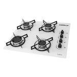 Fogao Cooktop Chamalux 4b Branco Gás Natural